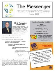 November 18, 2010 - First Baptist Church