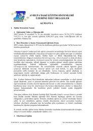 AB Eğitimi Sistemi Örnek 1-ALMANYA