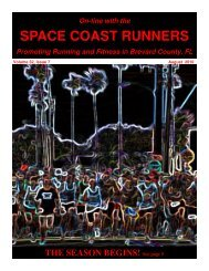 August - Space Coast Runners