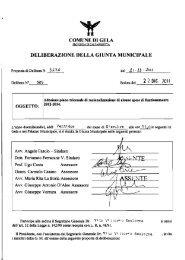 Delibera di giunta n° 3636 del 21/12/2011 - Comune di Gela