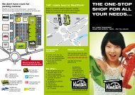 THE ONE-STOP SHOP FOR ALL YOUR NEEDS... - WestPark