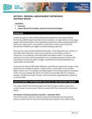 Regional Labour Market Partnerships - Kootenay - Jobs, Tourism ...