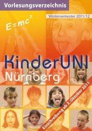 Liebe Studenten/-innen der KinderUNI, liebe Eltern - KS:NUE