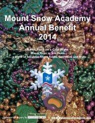 Mount Snow Academy Annual Benefit 2014