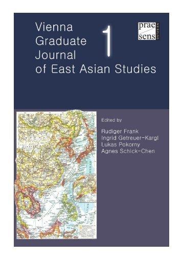 Vienna Graduate Journal of East Asian Studies - EcoS
