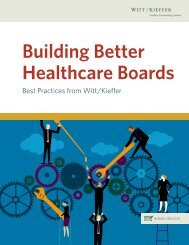 Building Better Healthcare Boards
