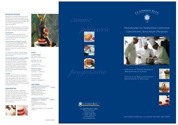 Continuing Education.qxd - Le Cordon Bleu