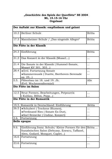 """""""Geschichte des Spiels der Querflöte"""" - Britta Bauer"""