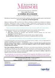 Nouvelle Formule LE JOURNAL DE LA MAISON