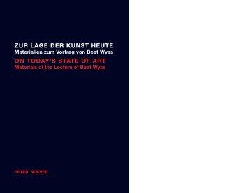 zur lage der kunst heute on today's state of art - Peter NoEver - MAK