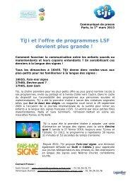TiJi et l'offre de programmes LSF devient plus grande !