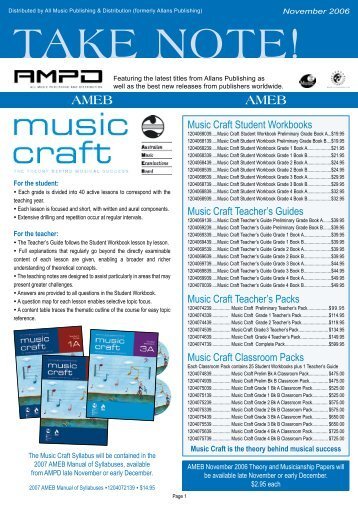 Ameb Online Music Craft Exams