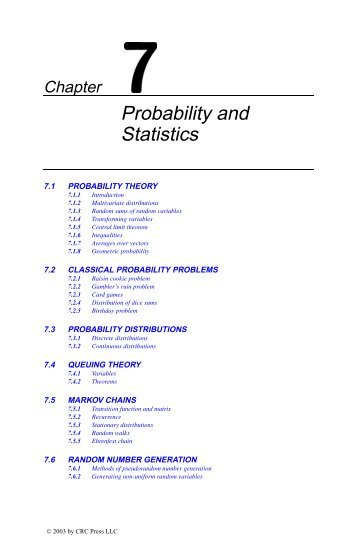 Chapter 7: Probability and Statistics