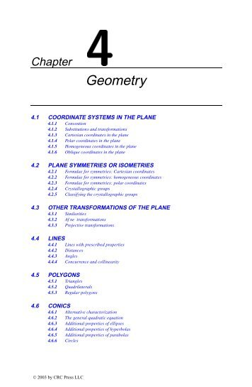 Chapter 4: Geometry