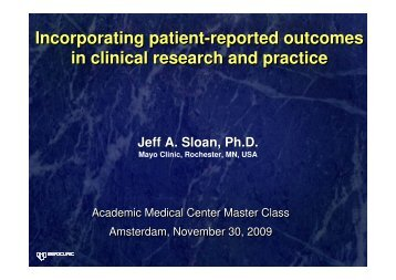 Incorporating patient-reported outcomes in clinical research and ...