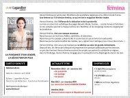 fiche titre VERSION FEMINA février 2013 - Lagardère Publicité
