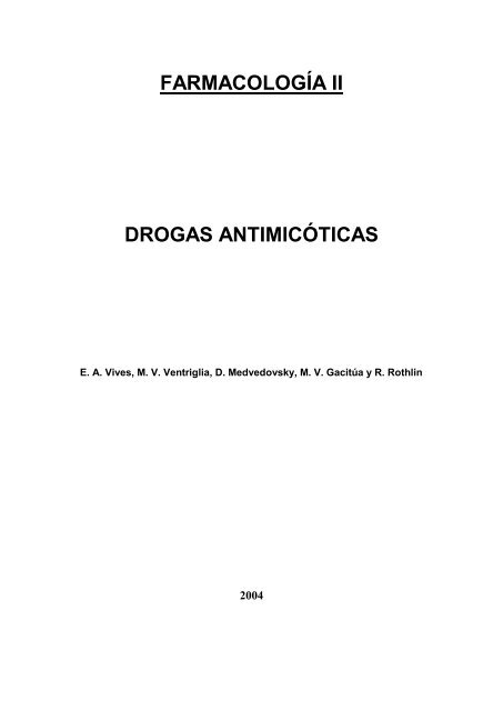Drogas Antimicoticas - FarmacoMedia