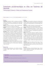 Tratamiento psicofarmacológico en niños con ... - FarmacoMedia