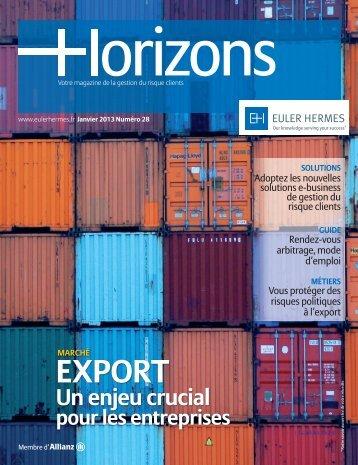 dernier numéro d'Horizons en PDF - Euler Hermes