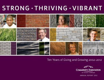 strong • thriving • vibrant - Community Foundation of Greater Dubuque