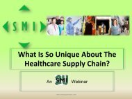 Healthcare Supply Chain? - The Strategic Marketplace Initiative