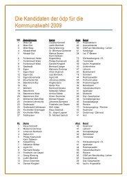 Liste aller Kandidaten - ödp Bottrop