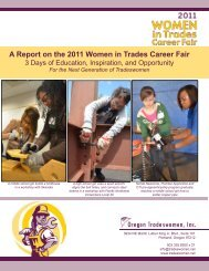 A Report on the 2011 Women in Trades Career Fair