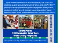 For the seventh year, members of the Kentucky Construction Career ...