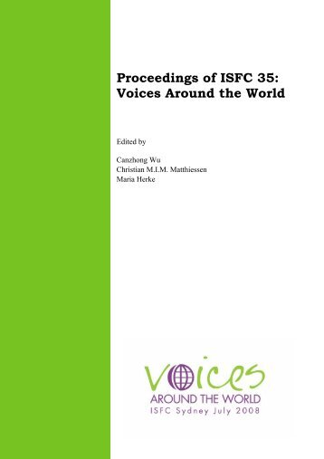 Proceedings - International Systemic-Functional Linguistics ...