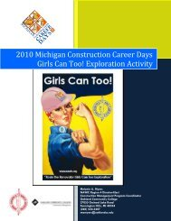 2010 Michigan Construction Career Days Girls Can Too! Exploration