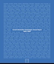 2003/2004 Annual Report - Services and Support - Cornell University