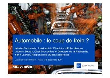 Automobile : le coup de frein ? - Euler Hermes