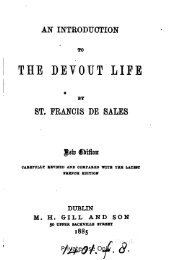 An introduction to the devout life - the Catholic Kingdom!