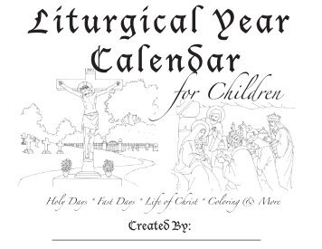 Free Traditional Catholic Liturgical Wall Calendar to