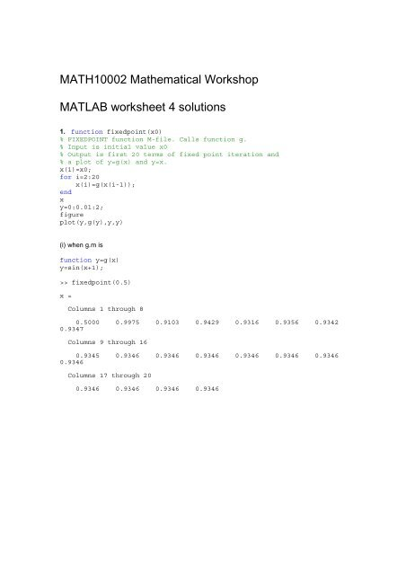 MATLAB worksheet 4 solutions pdf