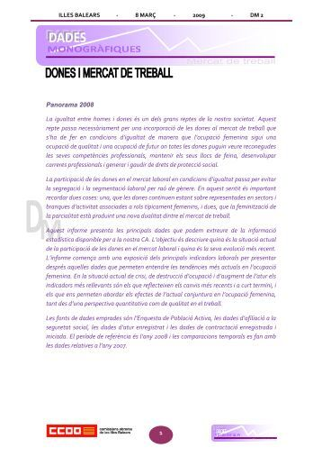 dones i mercat de treball 08 - Comissions Obreres de les Illes Balears