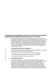 agreement on transmission service on fingrid's cross-border ...