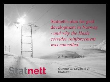 Statnett's plan for grid development in Norway - Fingrid