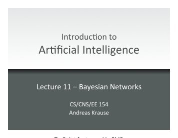 Bayesian Networks - Caltech