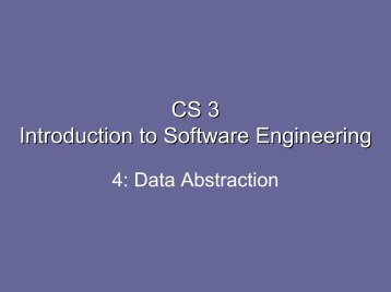 CS 3 Introduction to Software Engineering - Caltech