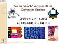 Lecture 1 - Caltech