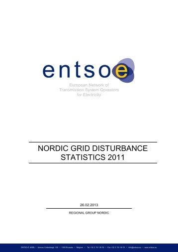 NORDIC GRID DISTURBANCE STATISTICS 2011 - Fingrid