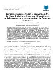 Comparing the concentration of heavy metals - International ...