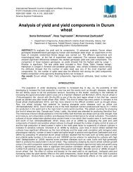 Analysis of yield and yield components in Durum wheat