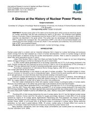 A Glance at the History of Nuclear Power Plants - irjabs.com