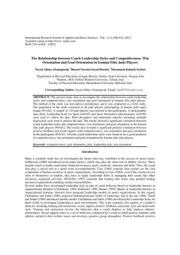 A Review of Relationship between Principal     s Leadership Style and     Know Justice