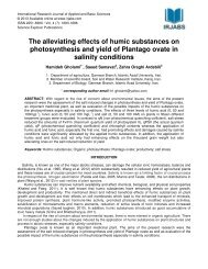 The alleviating effects of humic substances on ... - irjabs.com