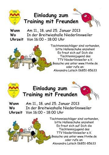 Flyer herunterladen - beim TTV Niederlinxweiler eV