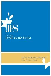 2010 ANNUAL REPORT - Ruth Rales Jewish Family Service