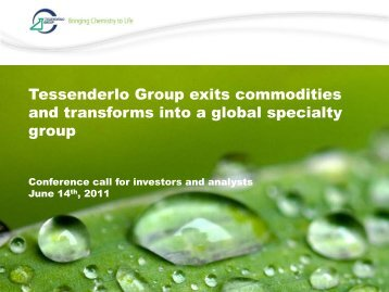 Slides [PDF, 465.59 Kb] - Tessenderlo Group